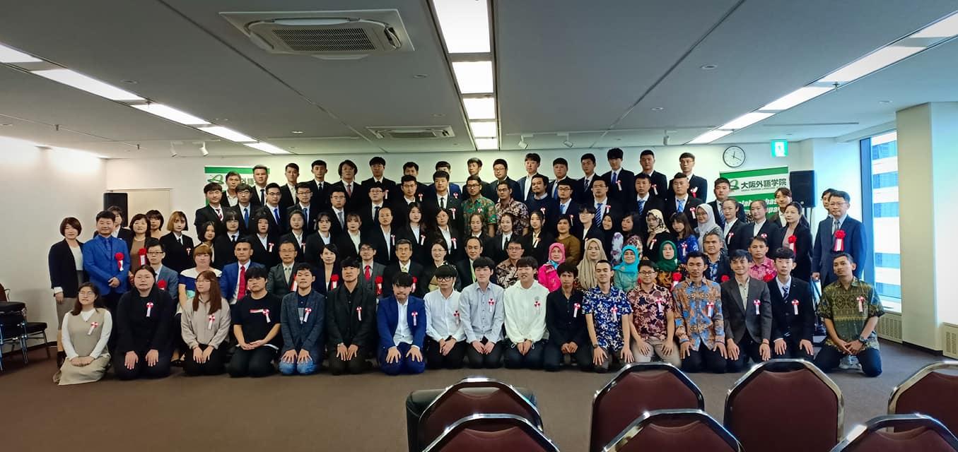Upacara Penerimaan Osaka Gaigo Gakuin Oktober 2019
